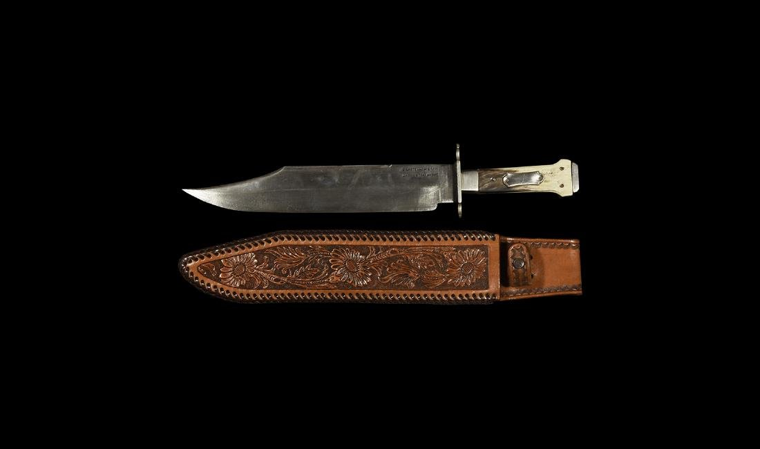 Post Medieval Bowie Knife with Sheath