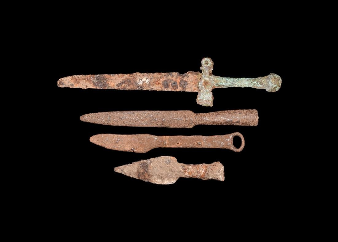 Medieval Dagger and Spearhead Group