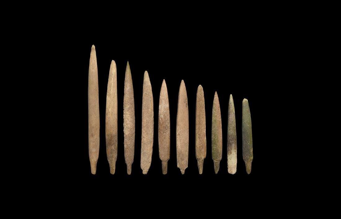 Chinese Liao Bone Arrowhead Collection