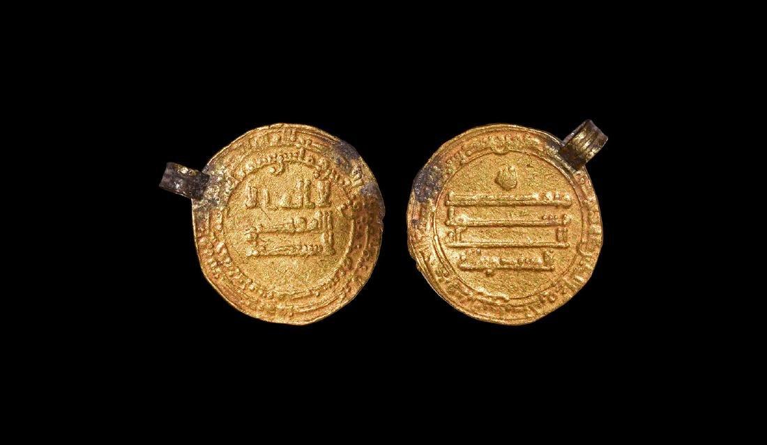 Viking Gold Abbasid Dinar Coin Pendant