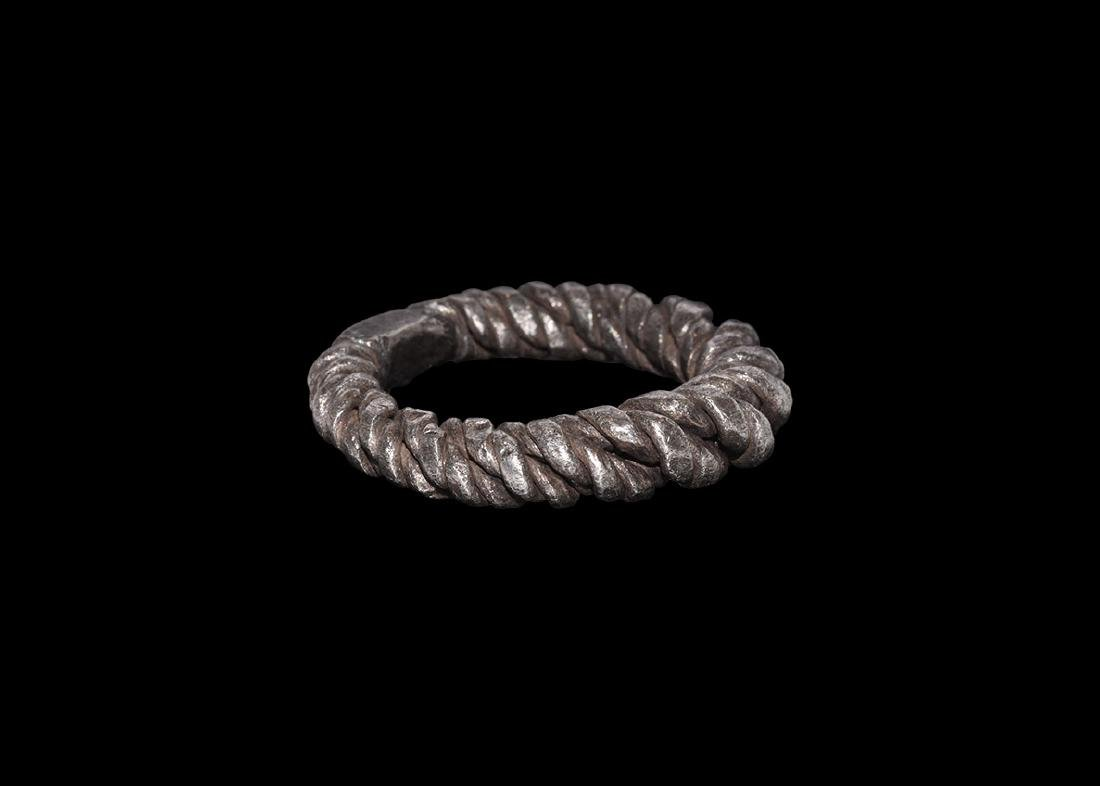 Viking Silver Twisted Ring