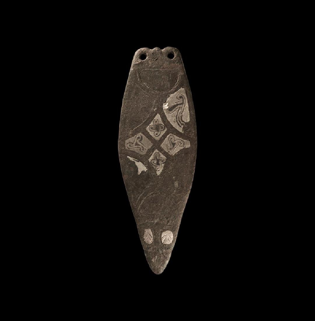 Anglo-Saxon Large Inlaid Strap End