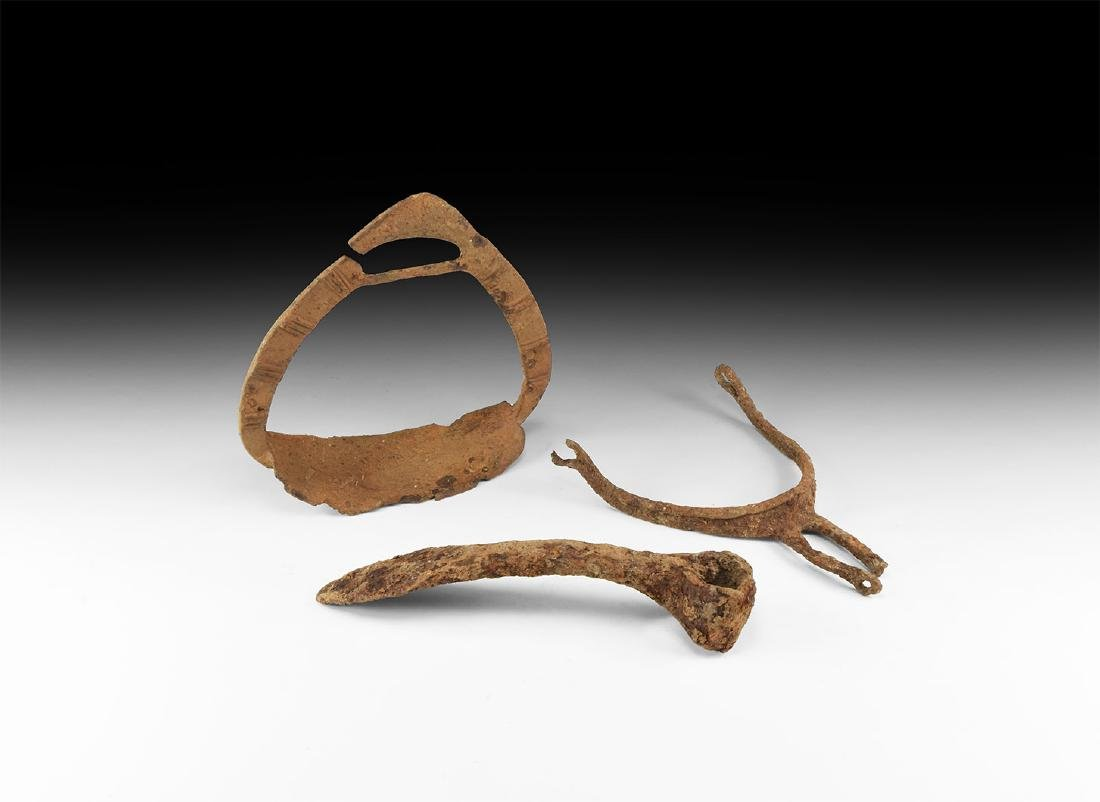 Medieval Stirrup, Spur and Adze Group