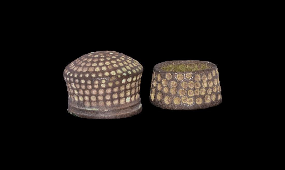 Medieval Tailor's Thimble Pair