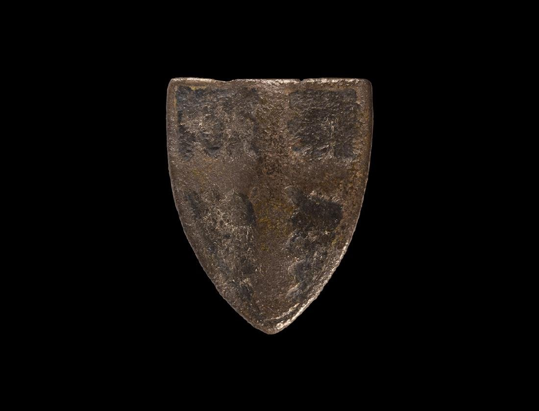 Heraldic Horse Harness Stud with Cross