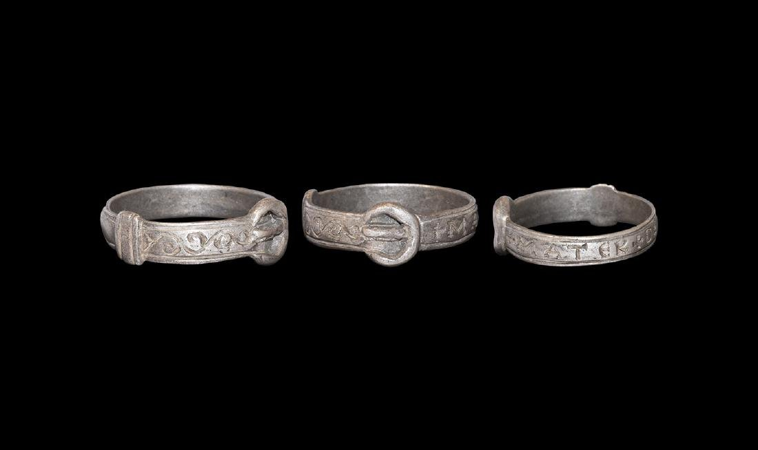 Medieval Silver Ring with MATER DEI