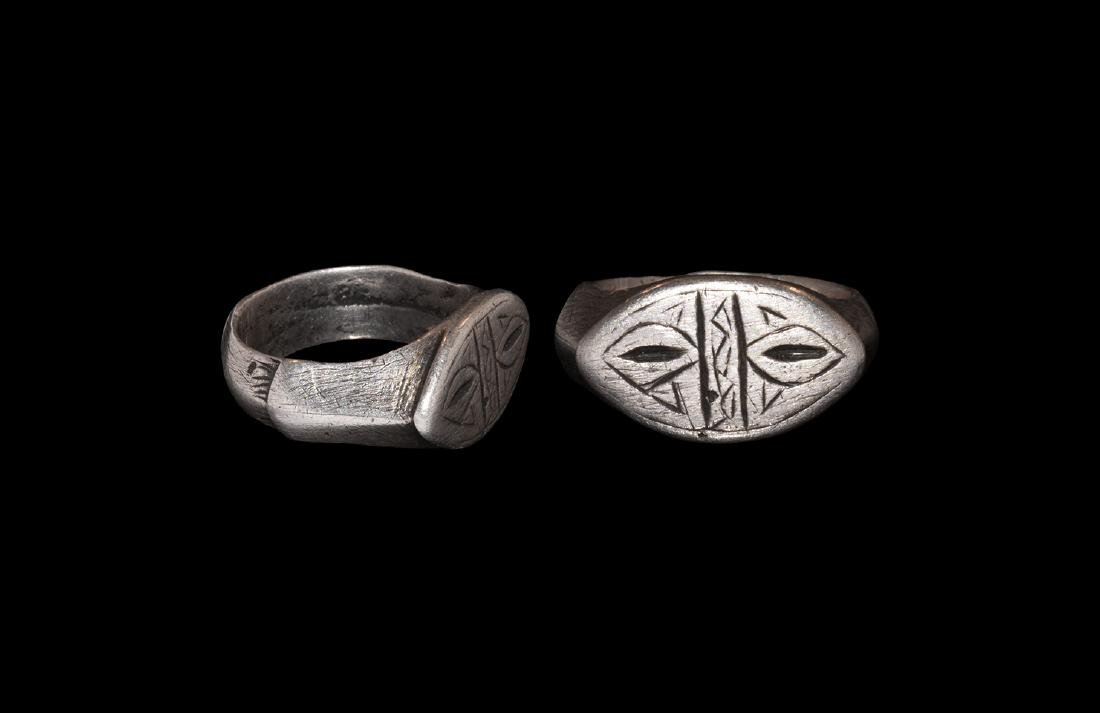 Signet Ring with Almond-Shaped Bezel