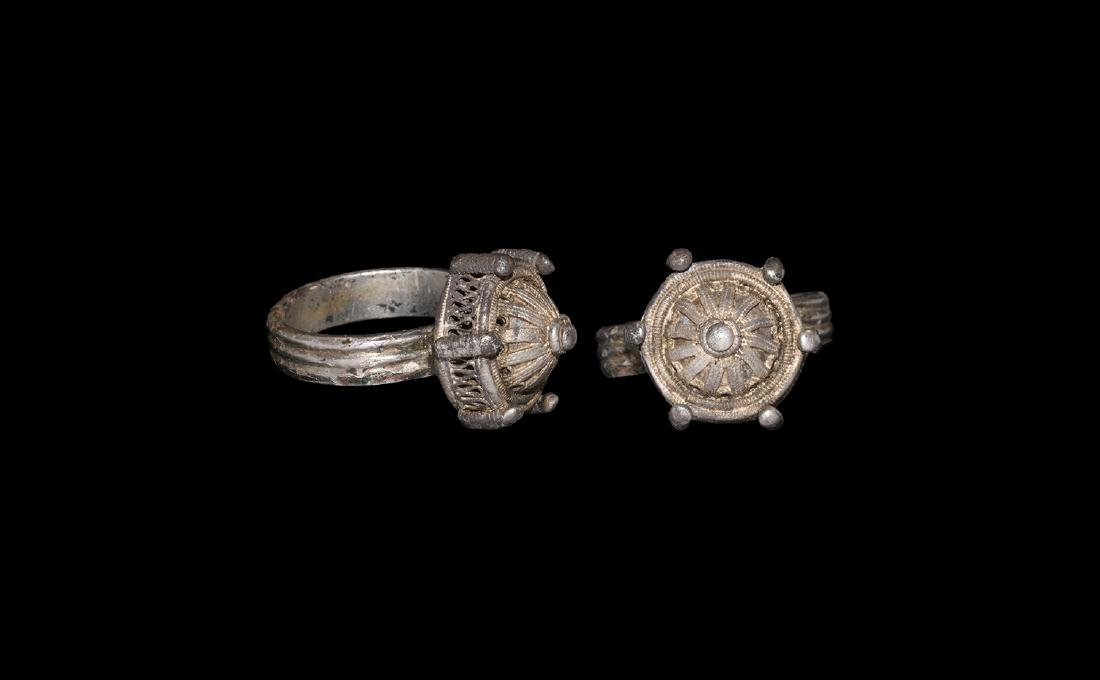Post Medieval Gilt Filigree Ring