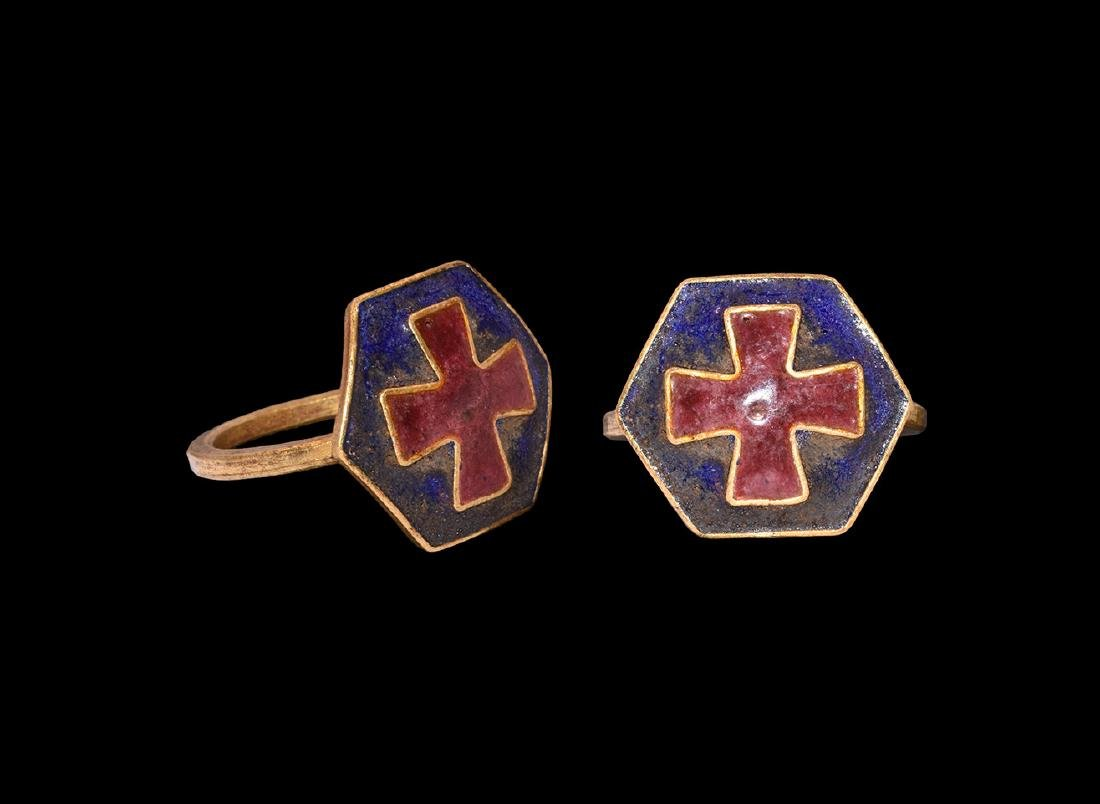 Post Medieval Gold Ring with Cross