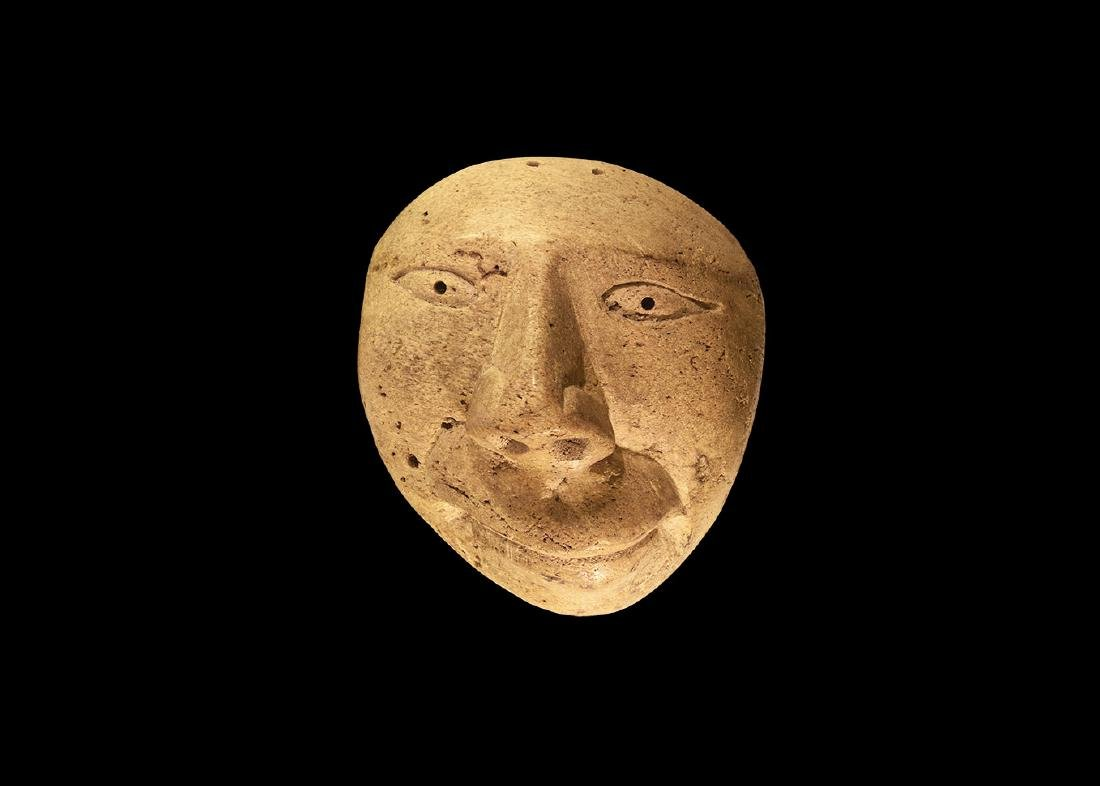 North American Inuit Bone Face Mask