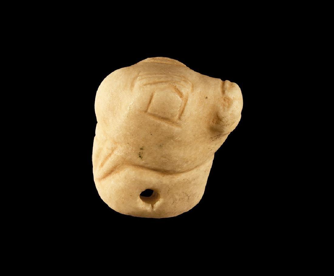 Luristan Carved Bull's Head Pommel