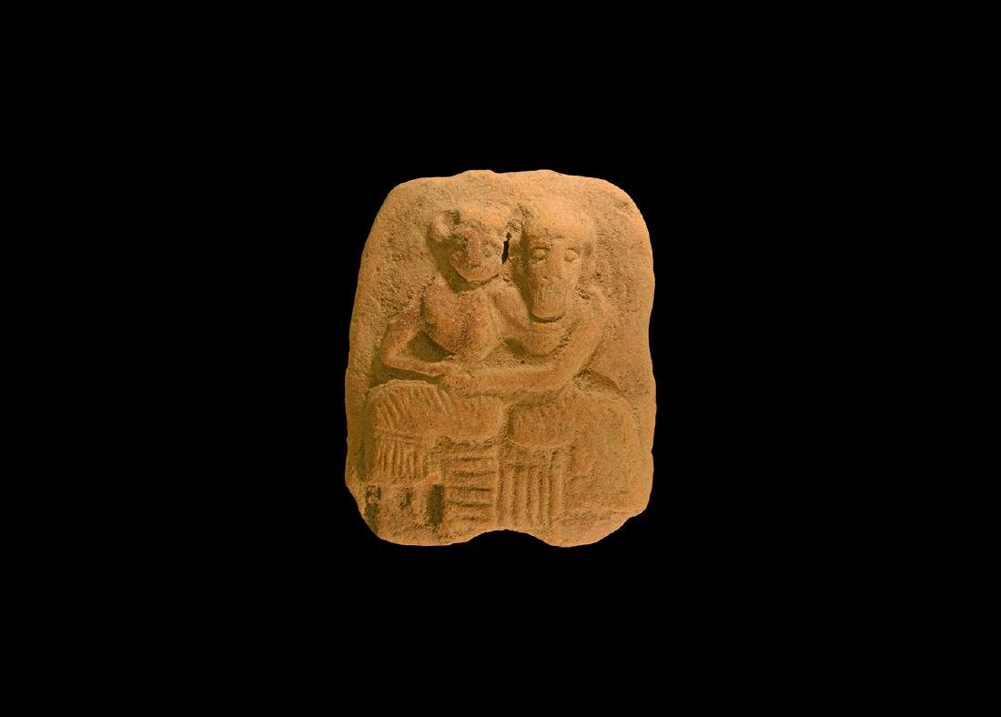 Western Asiatic Figural Plaque with a Couple