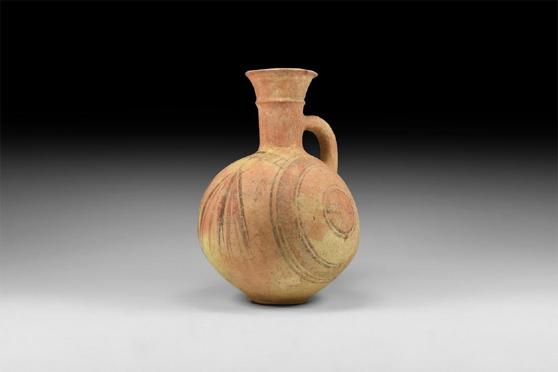Holy Land Polychrome Single-Handled Vessel
