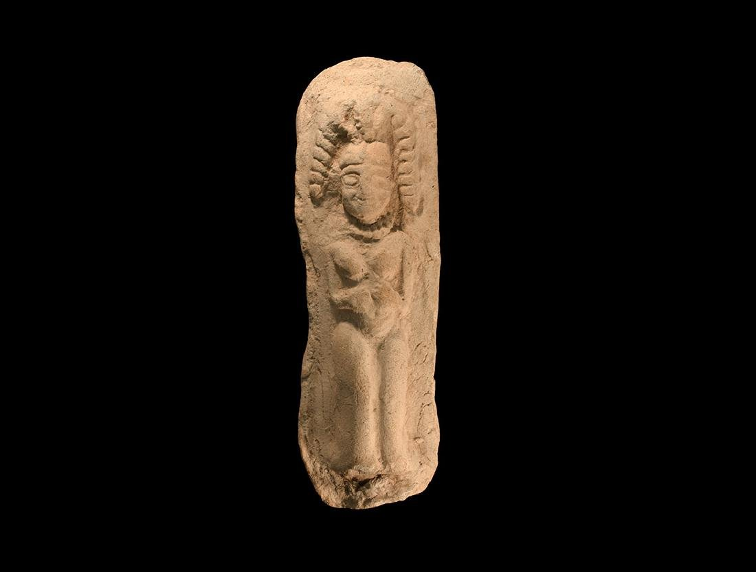 Western Asiatic Plaque with Nude Female