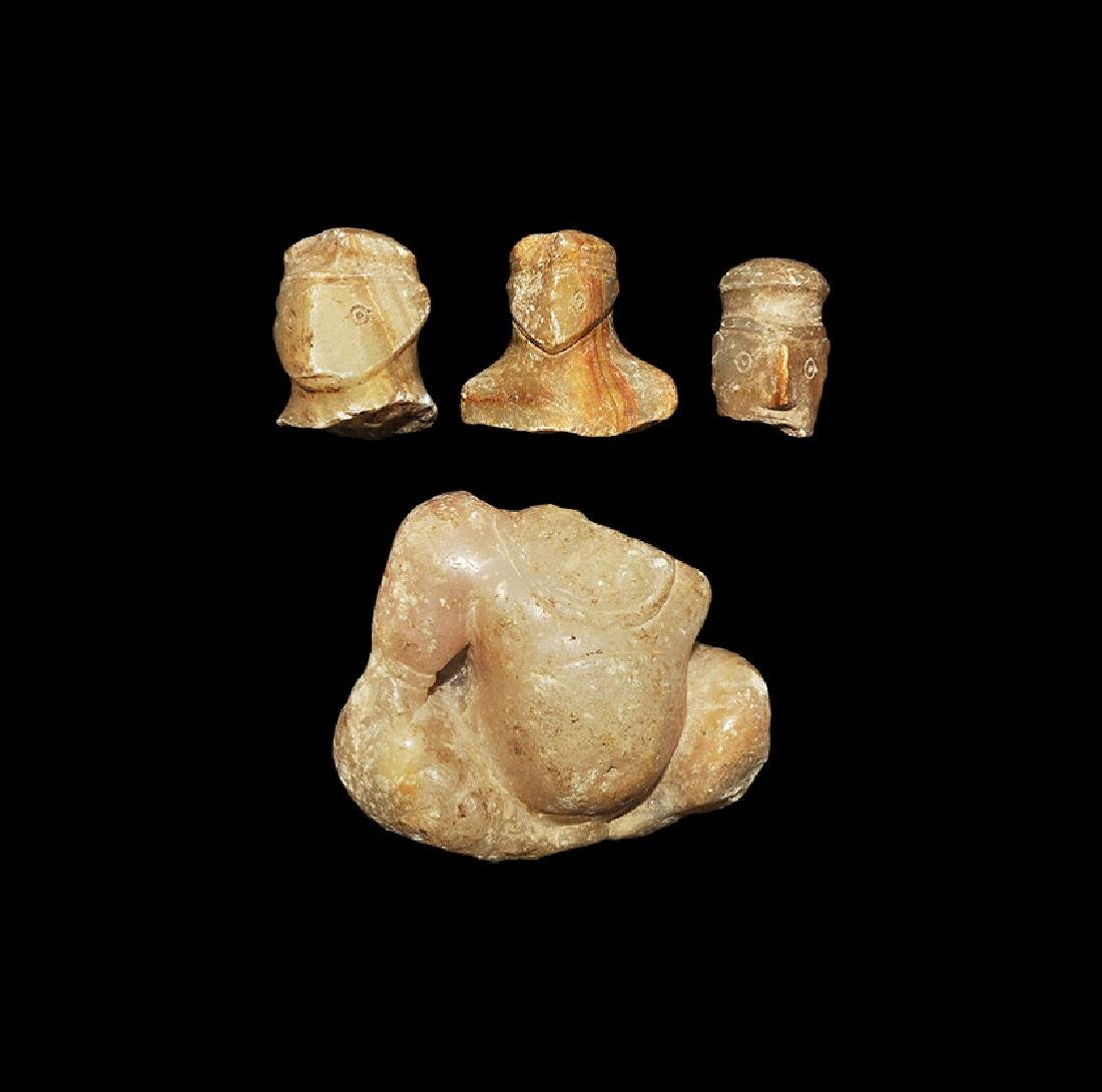 Elamite Alabaster Carving Group