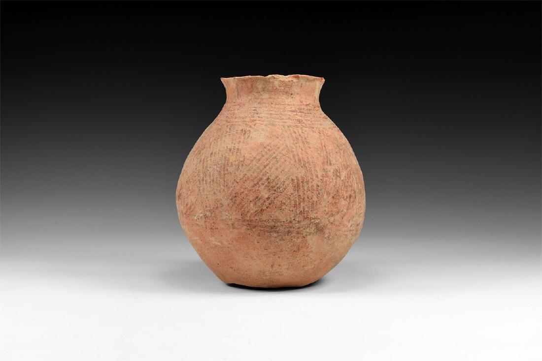 Bronze Age Holy Land Net Painted Jar