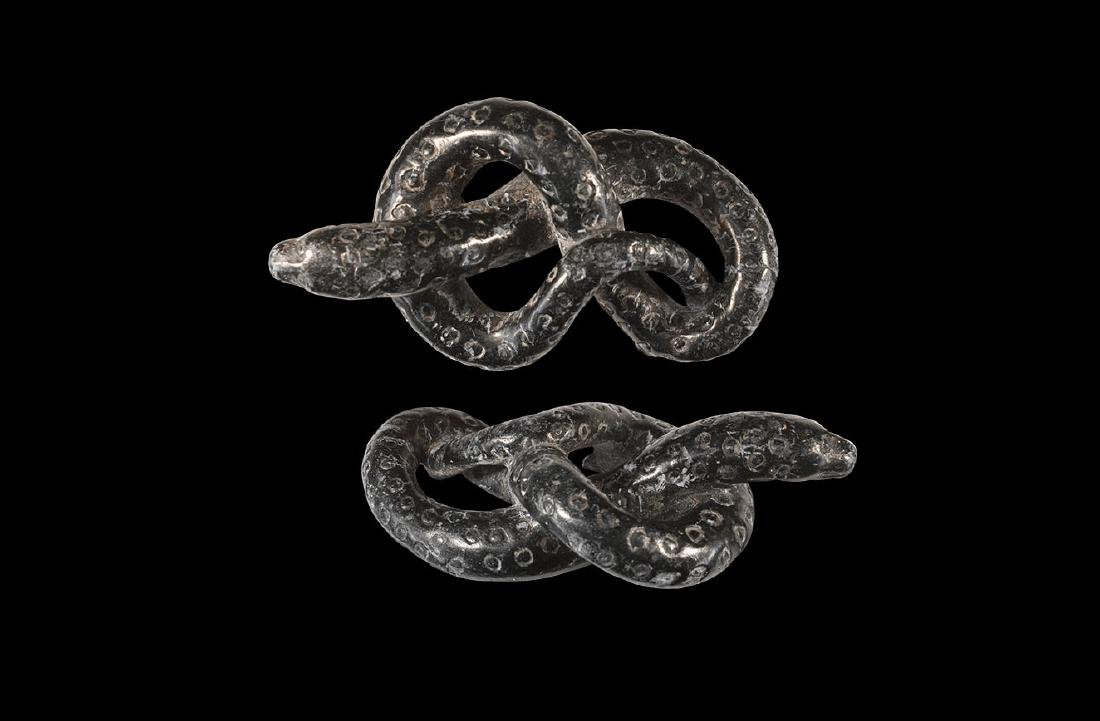 Western Asiatic Knotted Snake Statuette