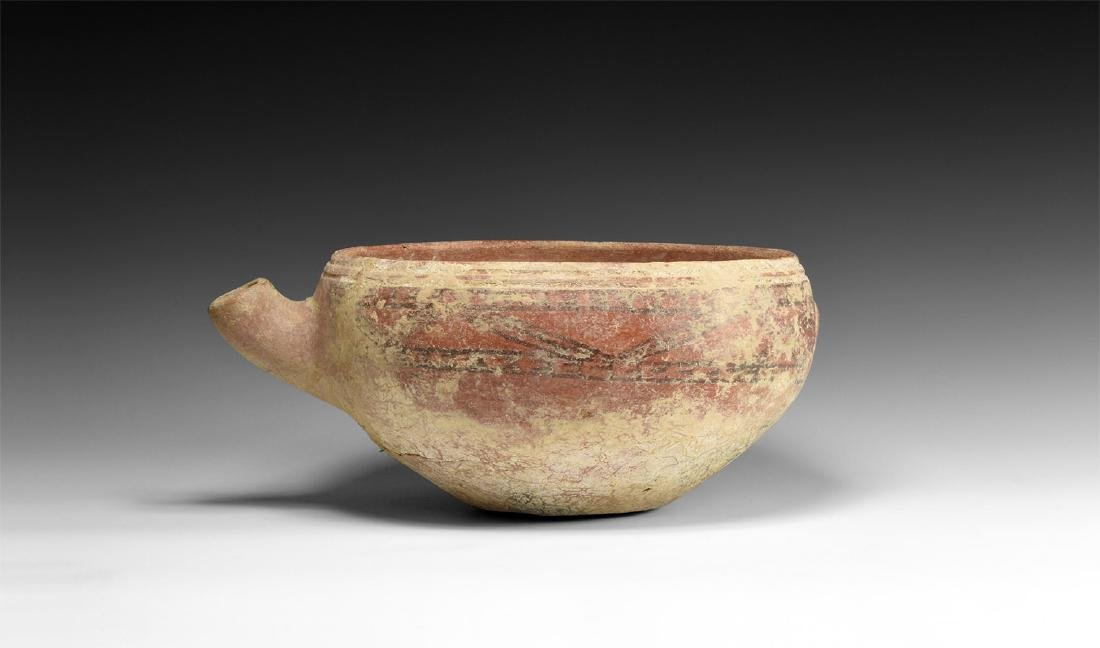 Prehistoric Spouted Bowl with Ornament