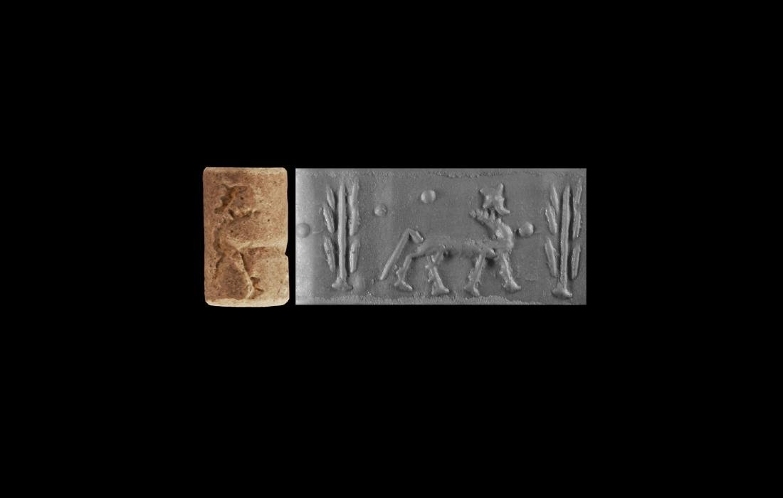 Middle Assyrian Cylinder Seal with Quadruped