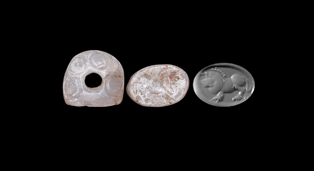Western Asiatic Sassanian Stamp Seal with Lion