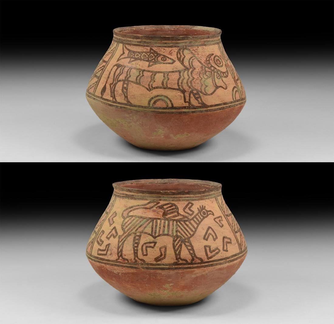 Mehrgarh Polychrome Jar with Gryphon & Bull