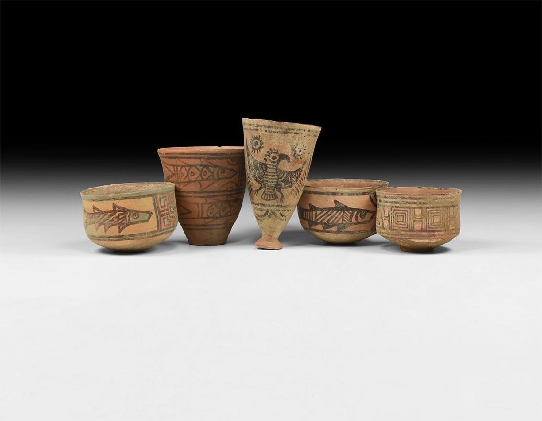 Indus Valley Mehrgarh Painted Vessel Group