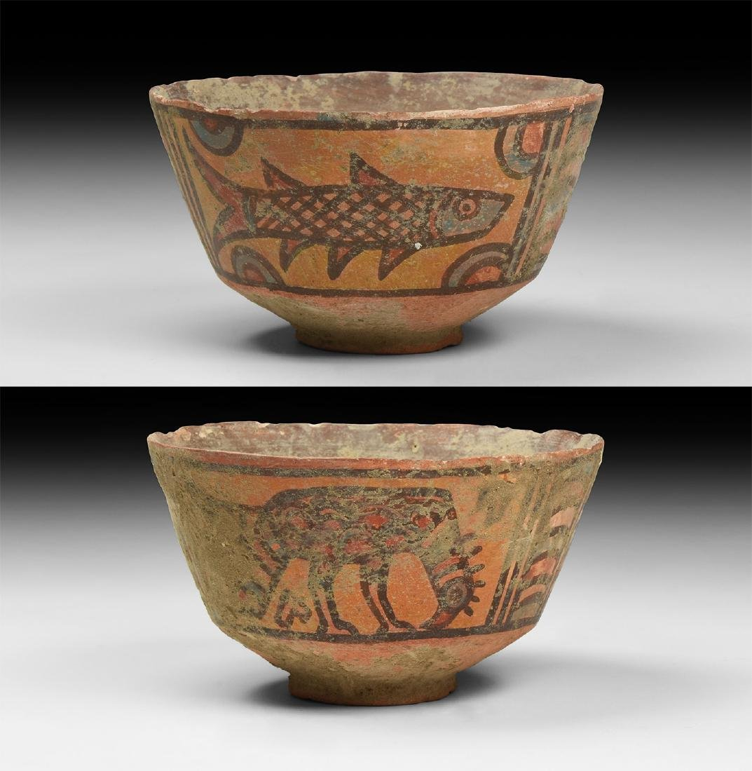Mehrgarh Polychrome Bowl with Vulture & Fish