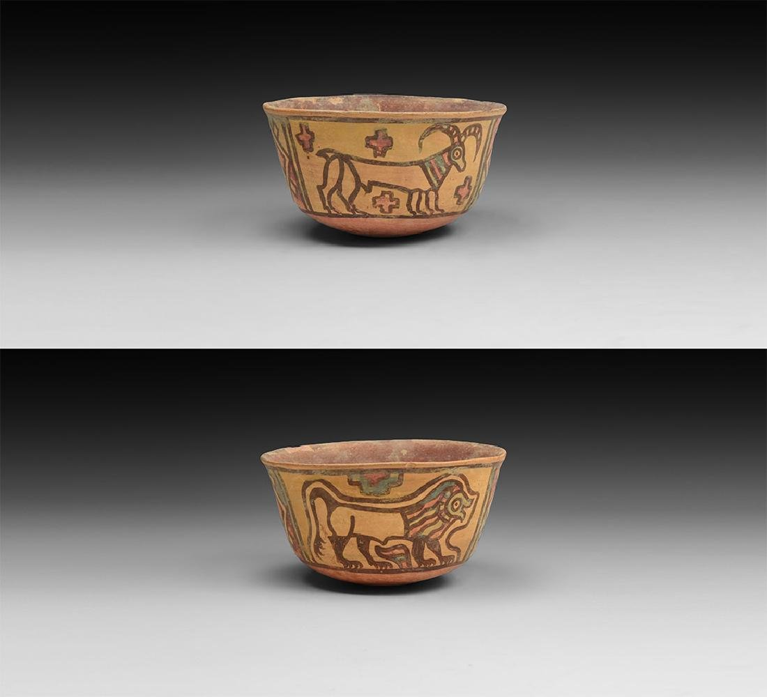 Mehrgarh Polychrome Bowl with Lion and Ibex