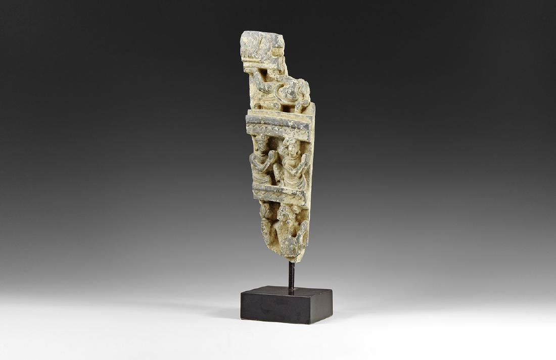 Gandharan Scenic Column Fragment