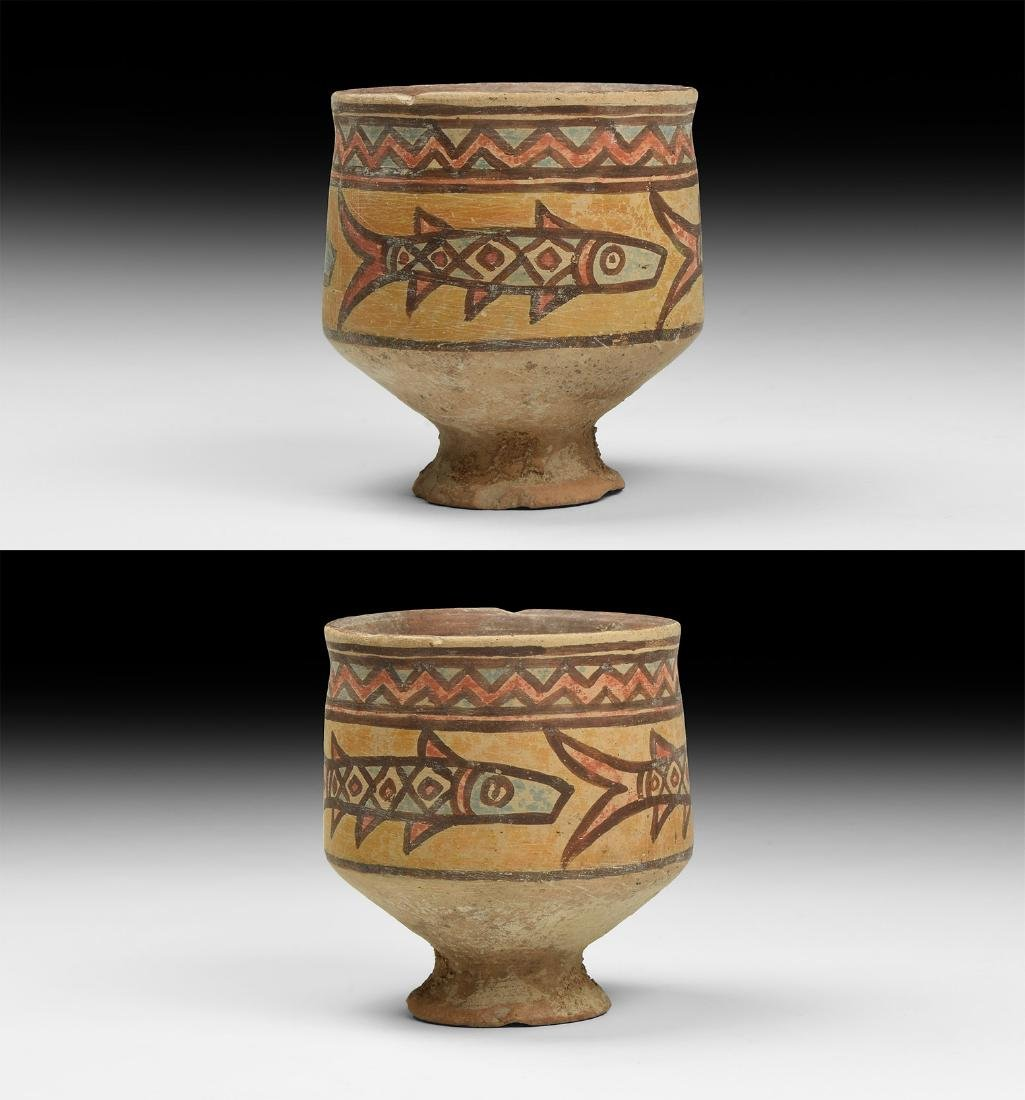 Mehrgarh Polychrome Chalice with Fishes