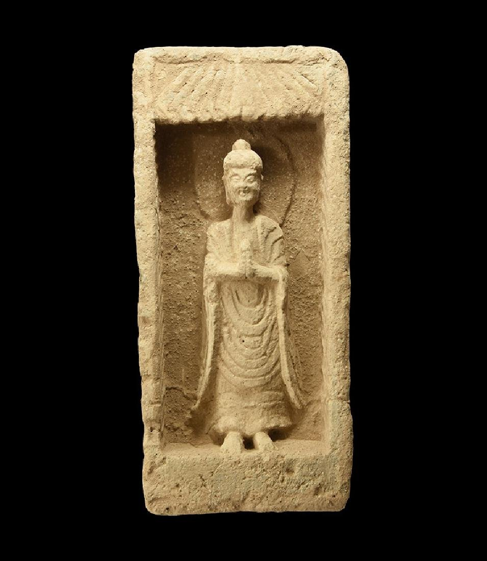 Chinese Northern Wei Buddha Temple Brick