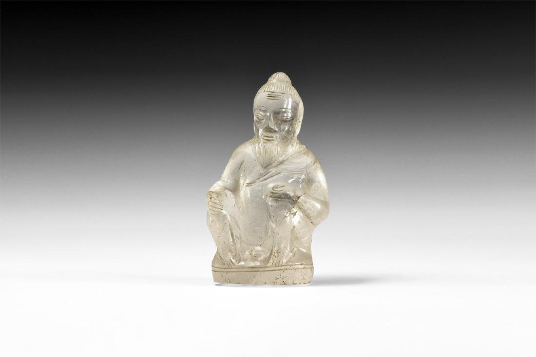 Chinese Qing Rock Crystal Figure