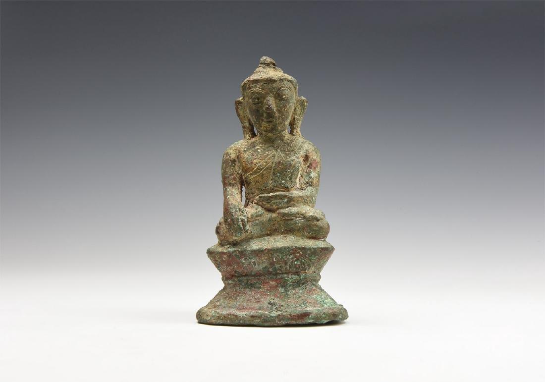 Burmese Gilt Bhumisparsha Buddha