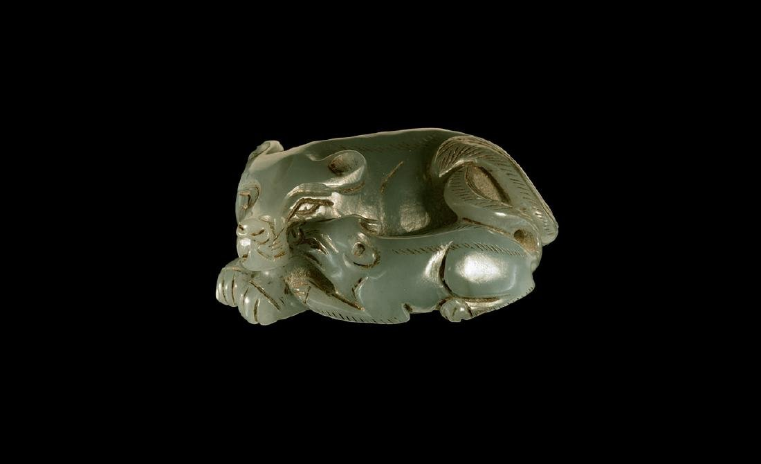 Chinese Jade Carved Animal Weight