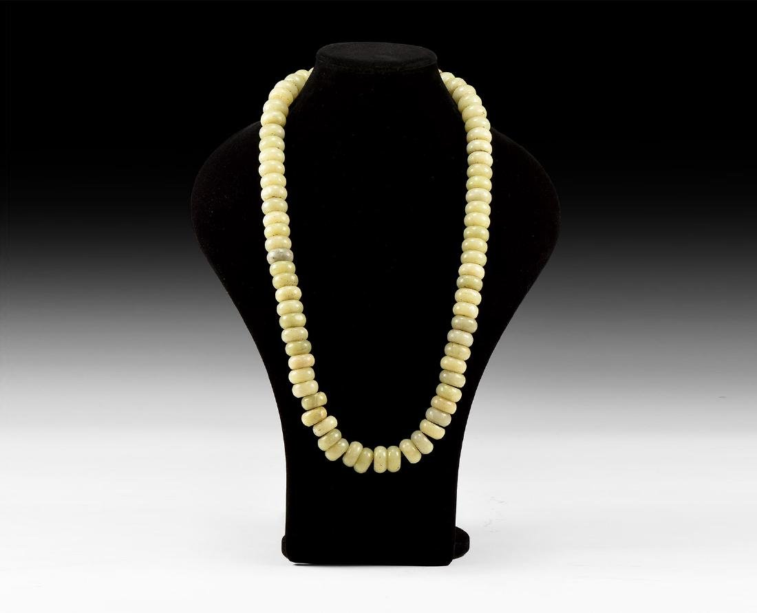 Chinese Carved Bead Necklace