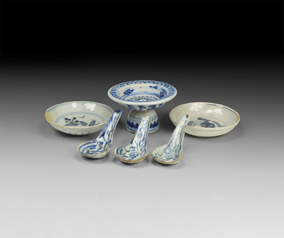 Ming Blue and White Glazed Pottery Collection