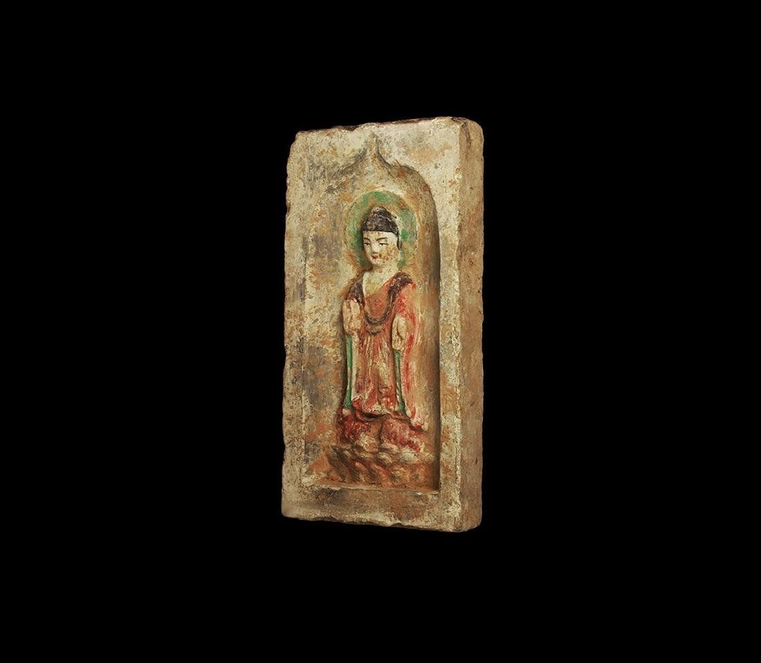 Chinese Northern Wei Buddha Brick