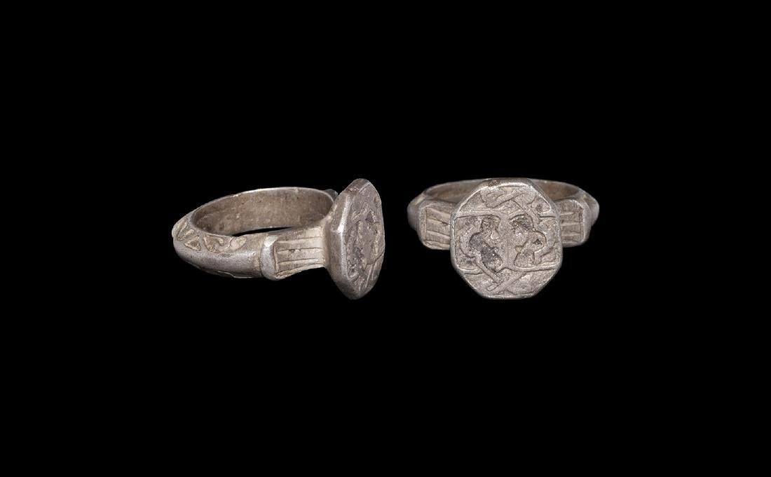 Islamic Silver Ring with Arabesque Design