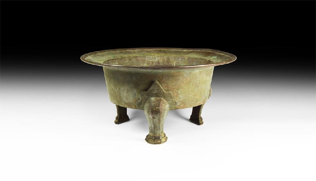 Islamic Large Three Footed Basin