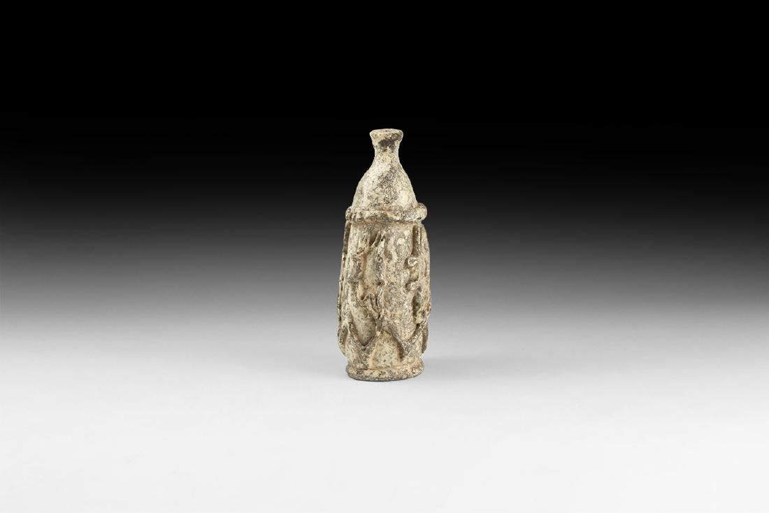 Early Islamic Bottle with Applied Decoration