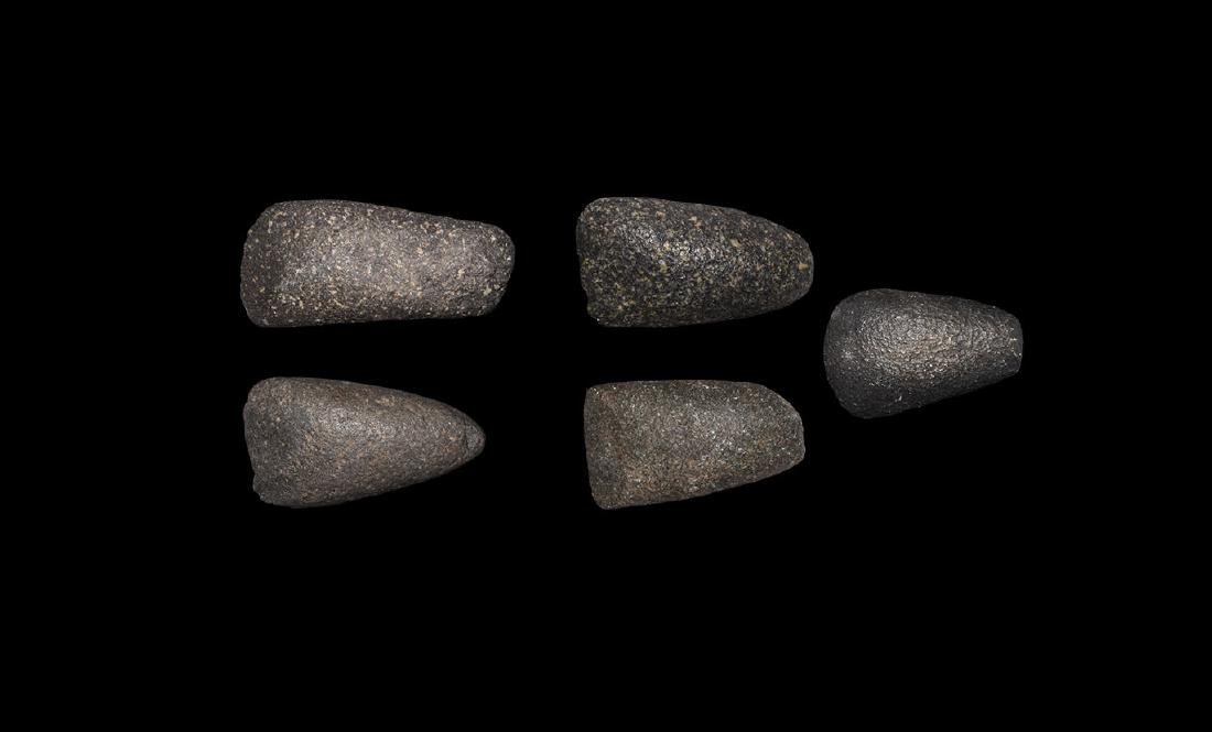 Stone Age Polished Axehead Group