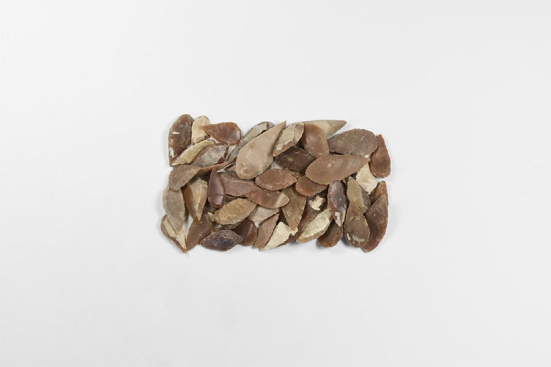 Knapped Leaf-Shaped Arrowhead Collection