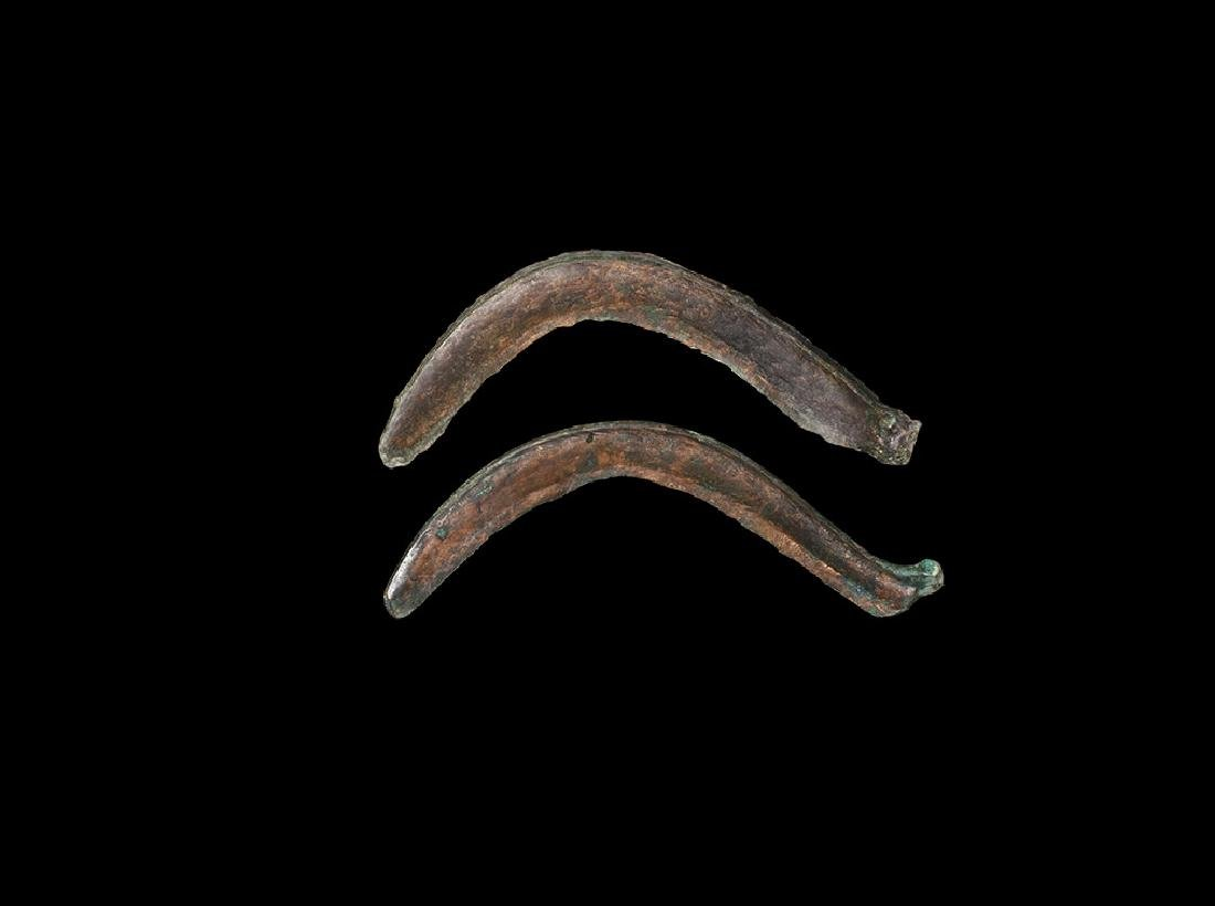 Bronze Age Large Sickle Pair