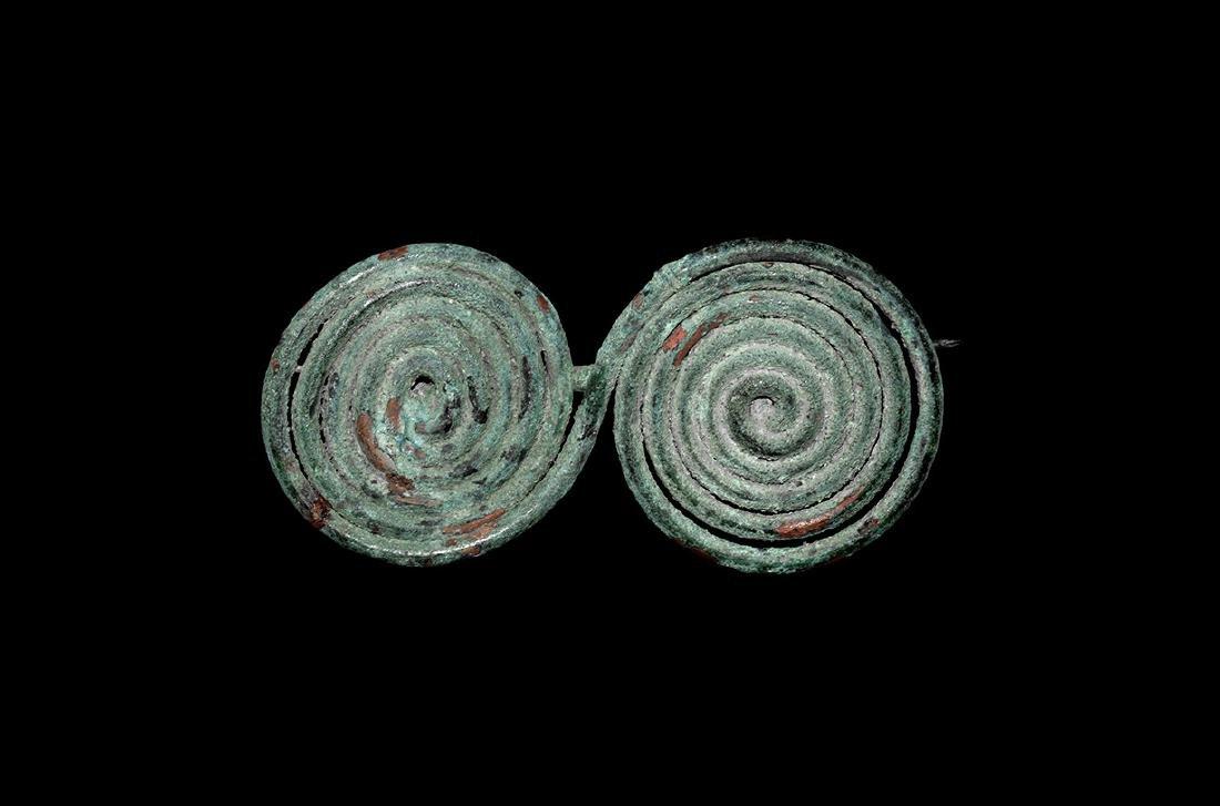 Bronze Age Spiral Brooch