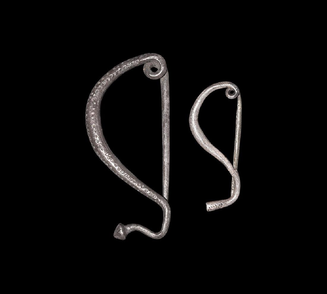 Iron Age Celtic Bow Brooch Pair