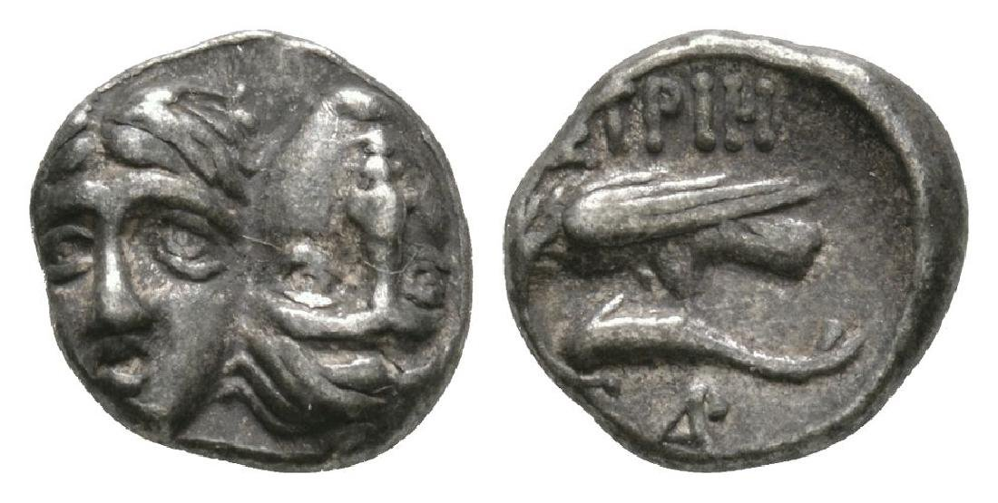 Ancient Greek Coins - Istros - Sea Eagle Diobol