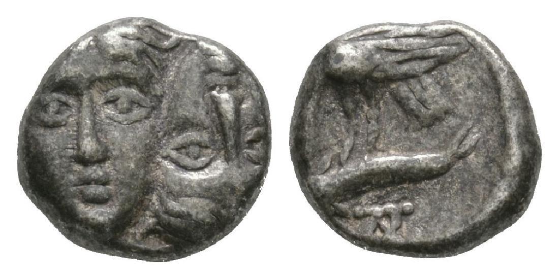 Ancient Greek Coins - Istros - Sea Eagle Diobol