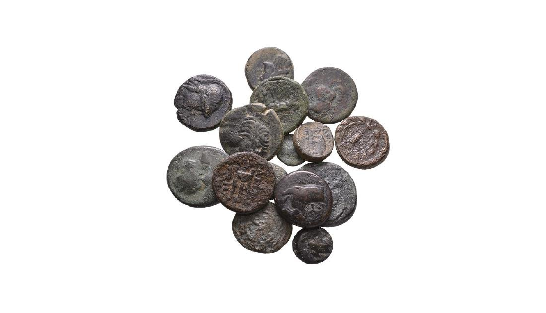 Ancient Greek Coins - Bronzes Group [15]
