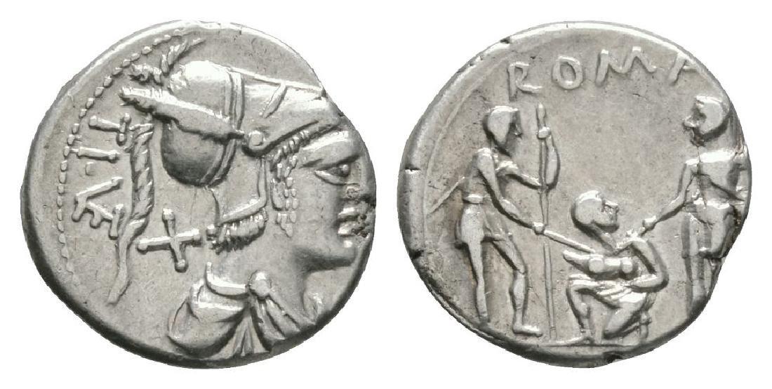 Ti Veturius - Oath Taking Denarius