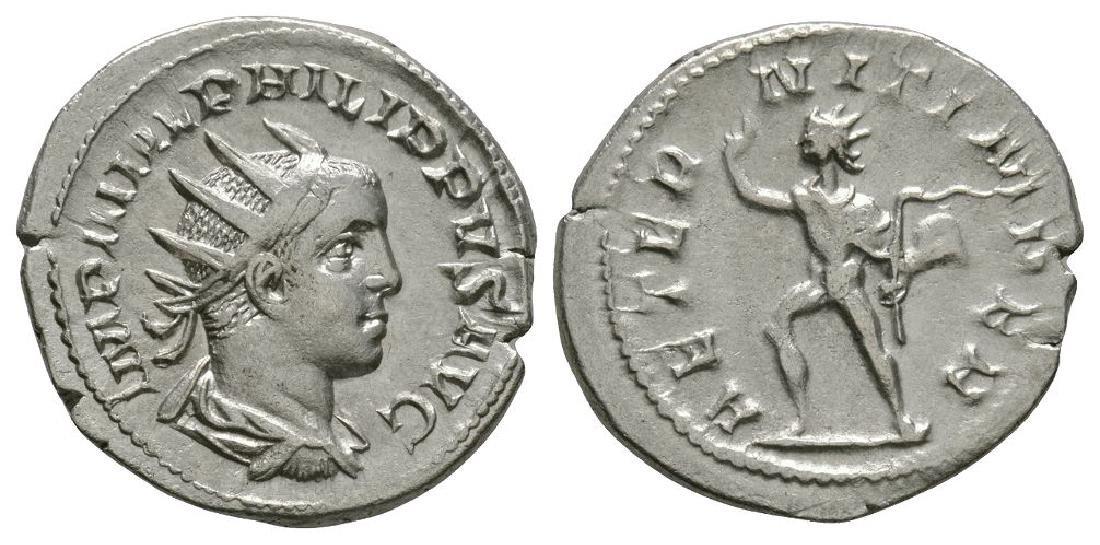 Philip II - Sol Advancing Antoninianus
